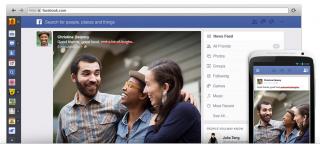 Nuevo diseño Facebook