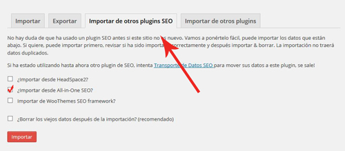 migracion de plugin de All In One SEO Pack a WordPress SEO Yoast