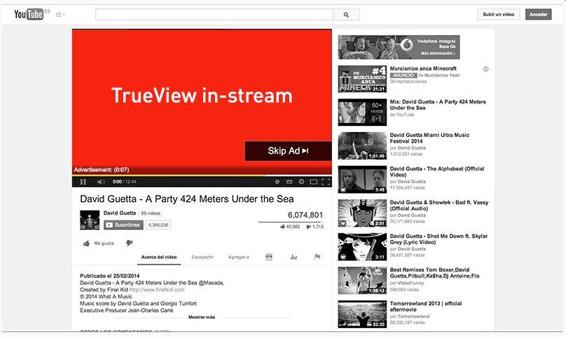 tipos anuncios youtube