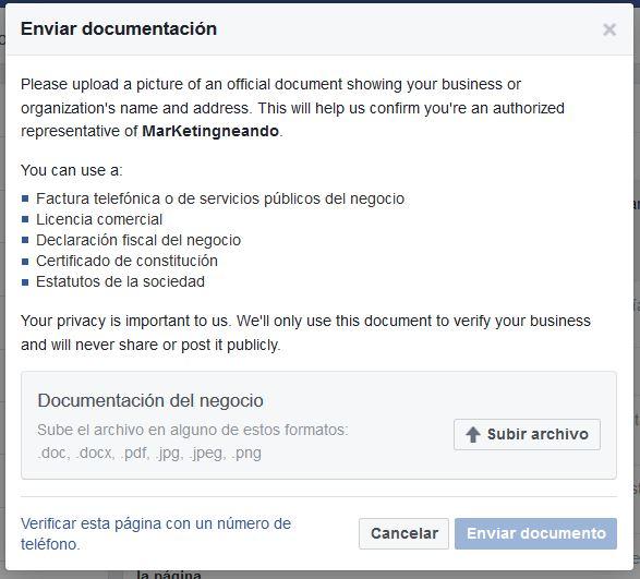 verficar-pagina-facebook